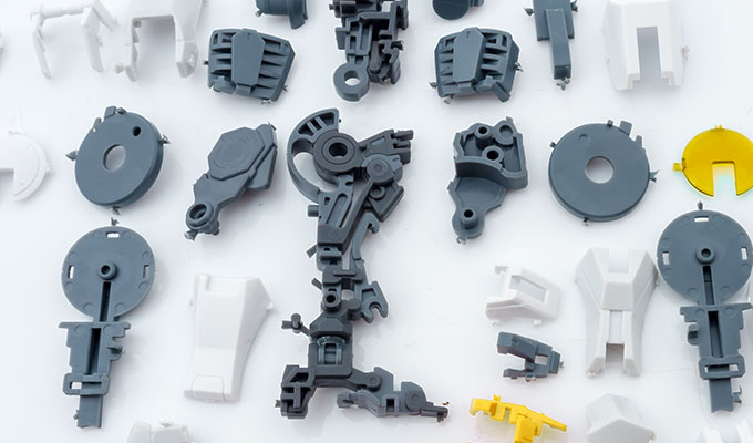 Application-oriented plastic parts